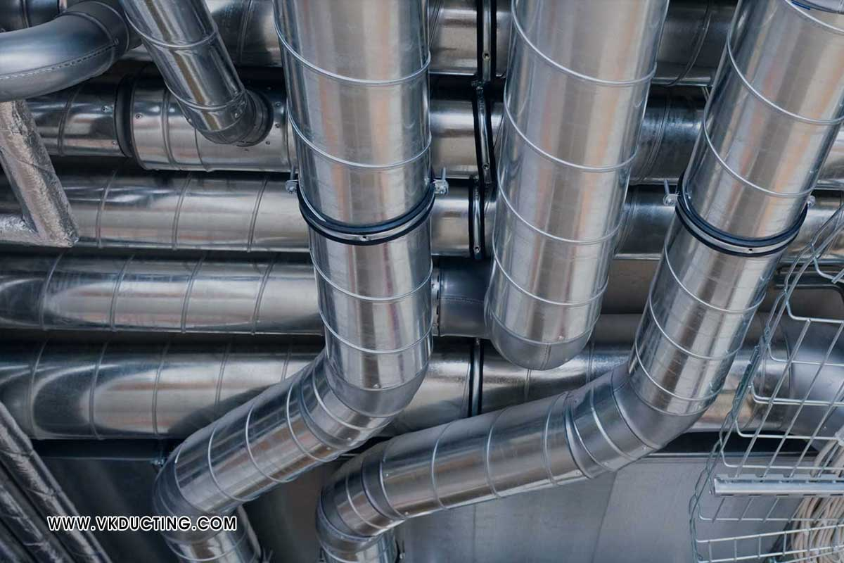 Round Square Ducting Malls Mutiplex Air Conditioning Ducting Industrial Exhaust Ducting Air Cooler Ducting Hot Fresh Air Ducting Hotel Kitchen Exhaust Ducting manufacturers in ludhiana punjab india